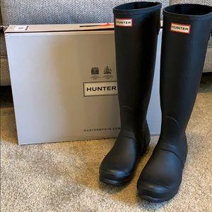 Original matte black adjustable hunter boots
